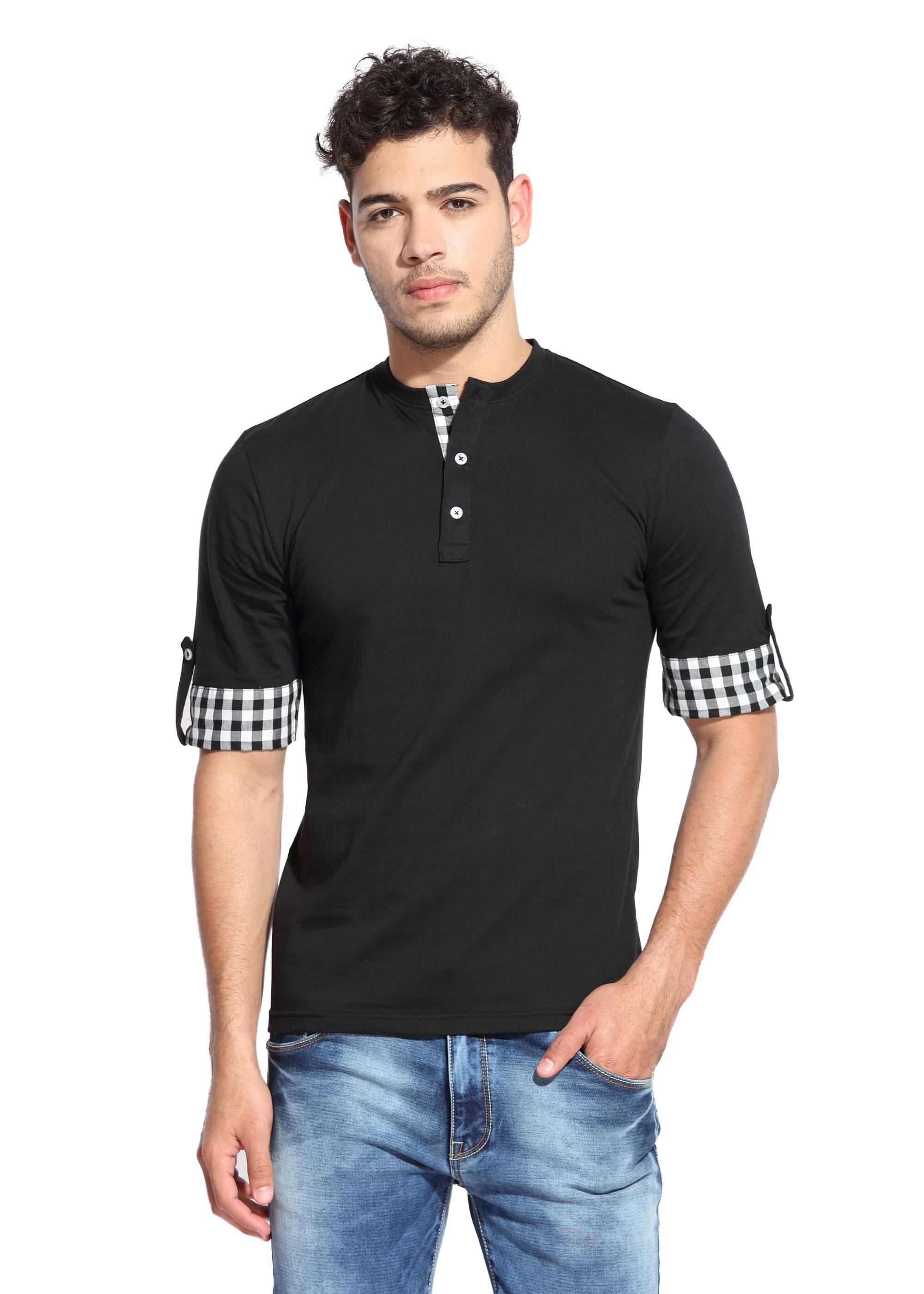 Le Bison Black Round T-Shirt Pack of 1