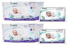 Himalaya Gentle Baby Wipes 72x2 and Baby Wipes 12x2