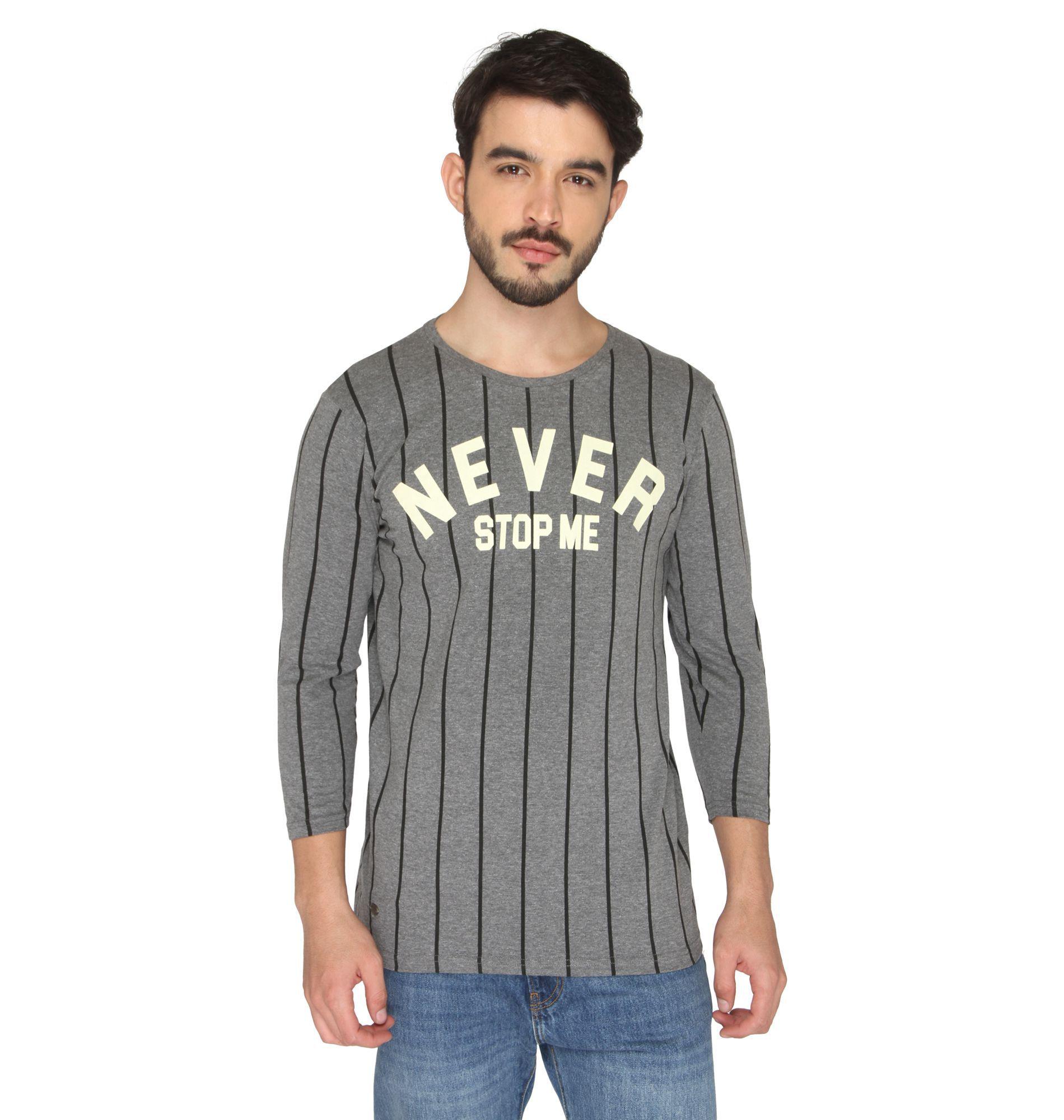 Drastic Black Round T-Shirt