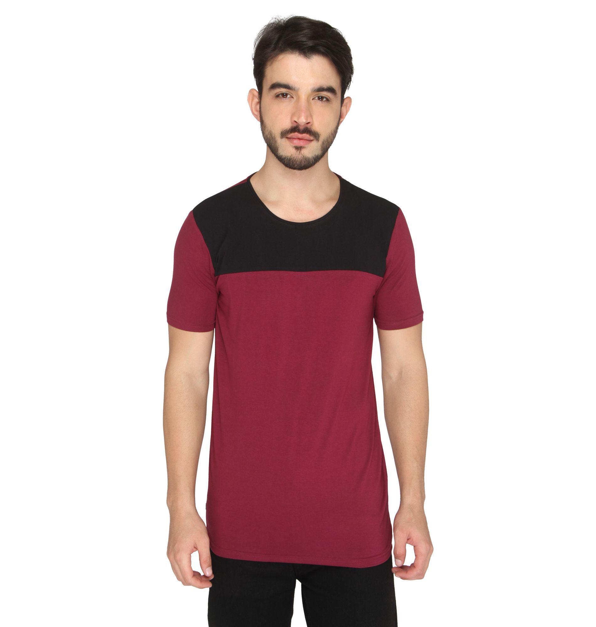 Drastic Maroon Round T-Shirt