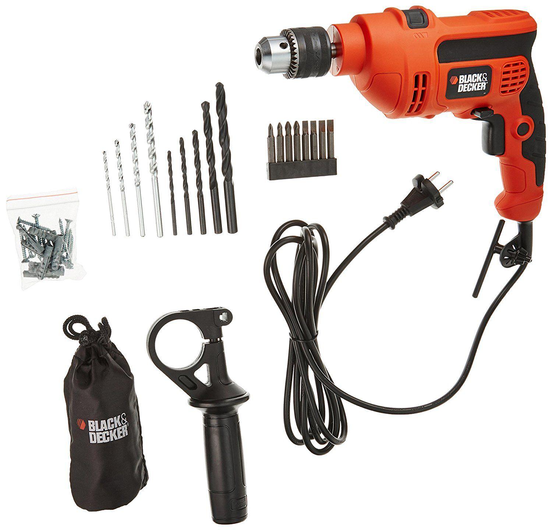 Black & Decker 30 KR704REK-IN 710w Corded Hammer Drill 15 PC