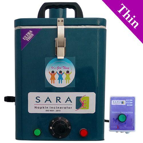 Sara Wall Mounted Napkin Incinerator Regular 50 Sanitary Pads