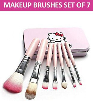 49179c268 Hello Kitty Imported Professional Makeup Brushes Synthetic Set of 7: Buy Hello  Kitty Imported Professional Makeup Brushes Synthetic Set of 7 at Best  Prices ...