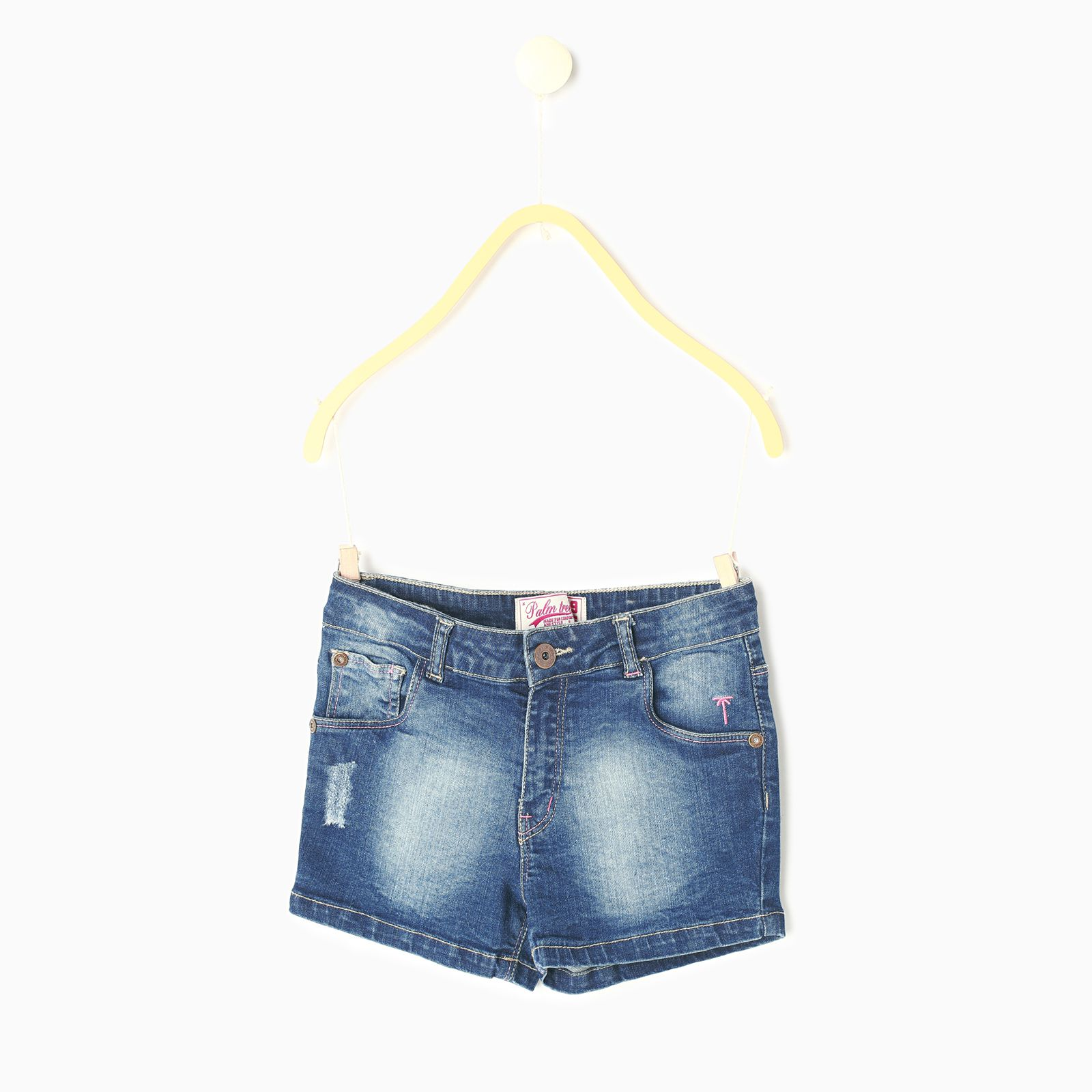 Palm Tree Blue  Hot Shorts