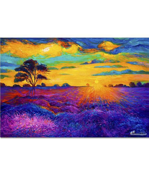 Anwesha's Gallery Wrapped Digitally Printed 30x20 Inch - 120 Canvas Painting With Frame