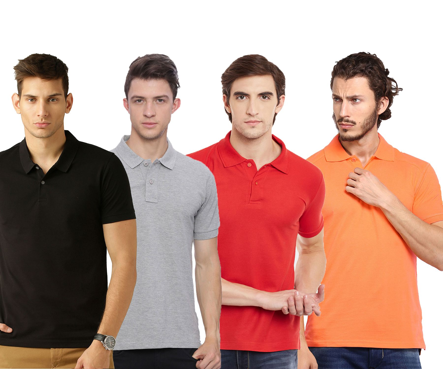 Galatea Multi Slim Fit Polo T Shirt Pack of 4