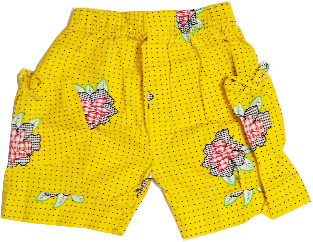 HVM Printed Color Shorts- 7-8 Years