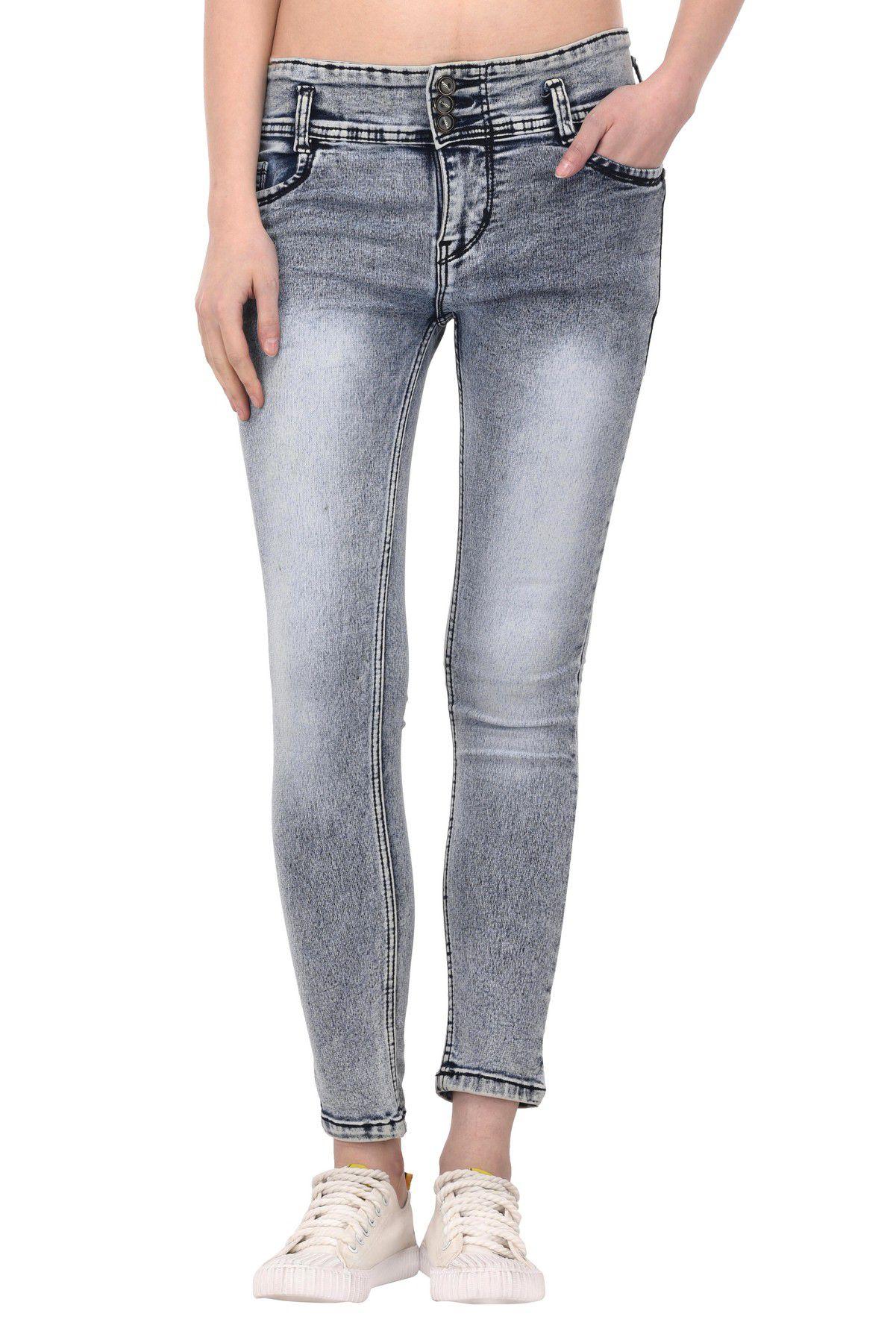VOXATI Denim Lycra Jeans - Grey