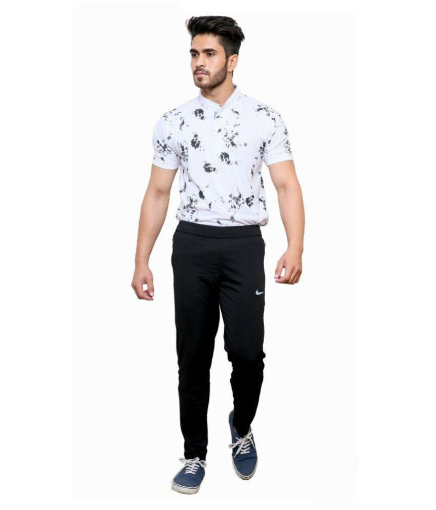 NIKE BLACK POLYESTER TRACKPANT