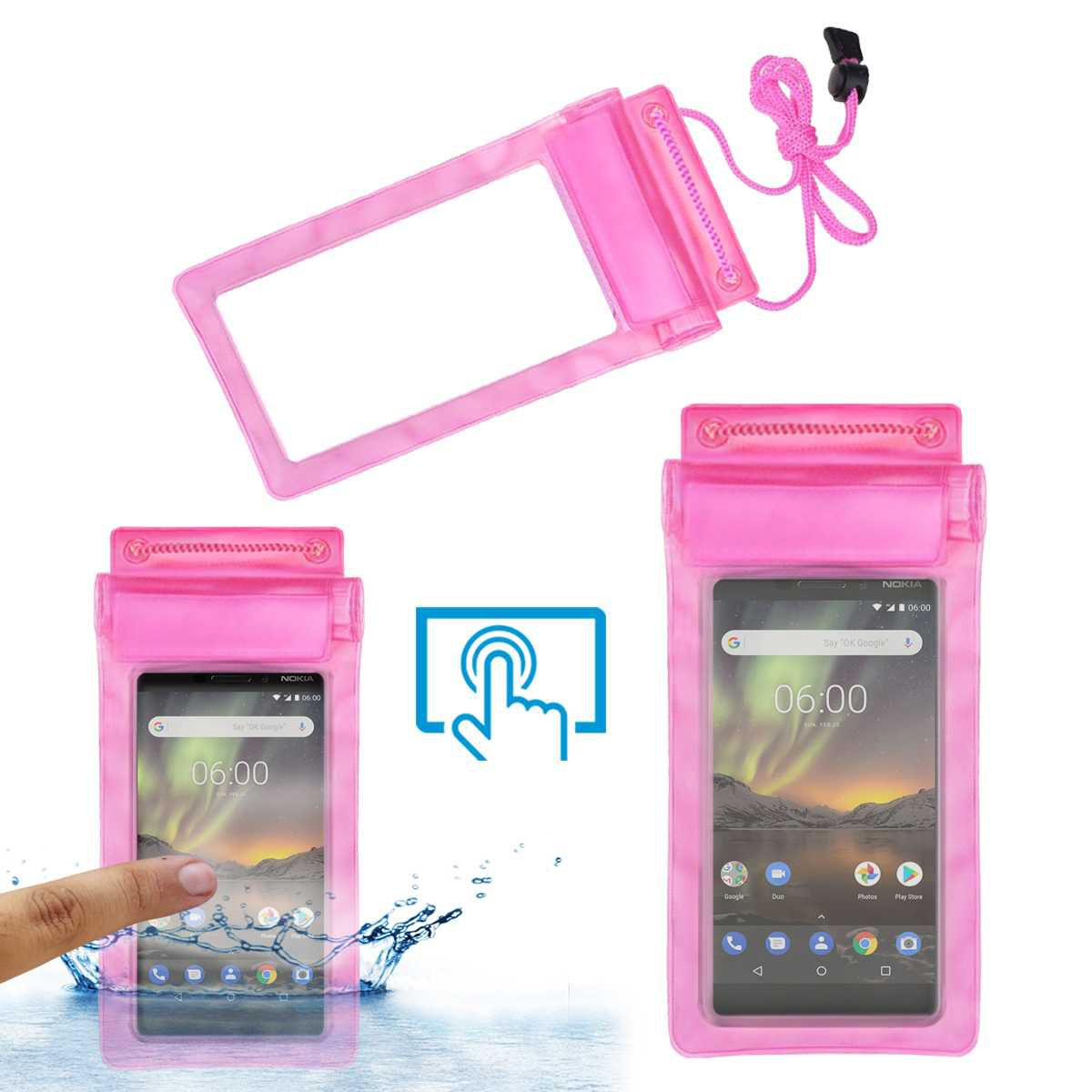 quality design 5c8cb ae207 Nokia 6 (2018) Holster Cover by ACM - Pink