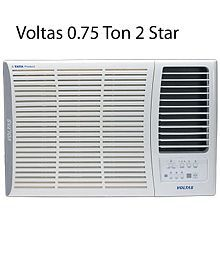 Voltas 0.75 Ton 2 Star 102 DYA/102 LYE/102 EY Window Air Conditioner White(2016-17 BEE Rating)