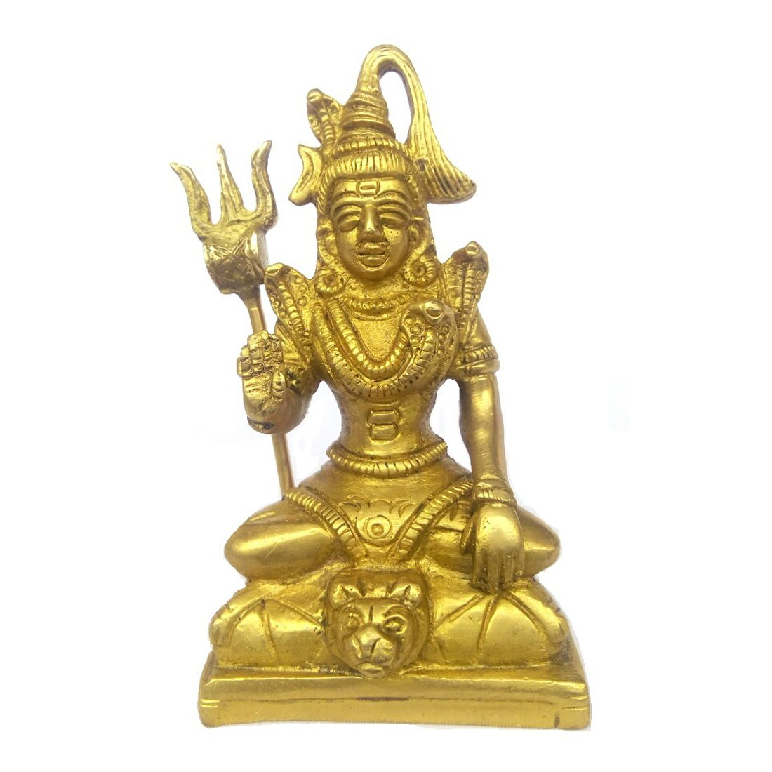 Kartique Brass Shiva Murti   Shiv Idol   Shiv Statue