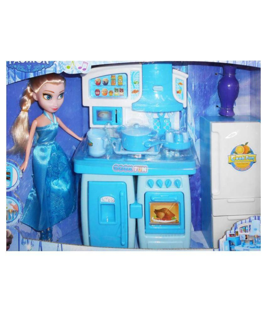 Kitchen Set with Princess Doll Super cool Light & Music for Girl ...