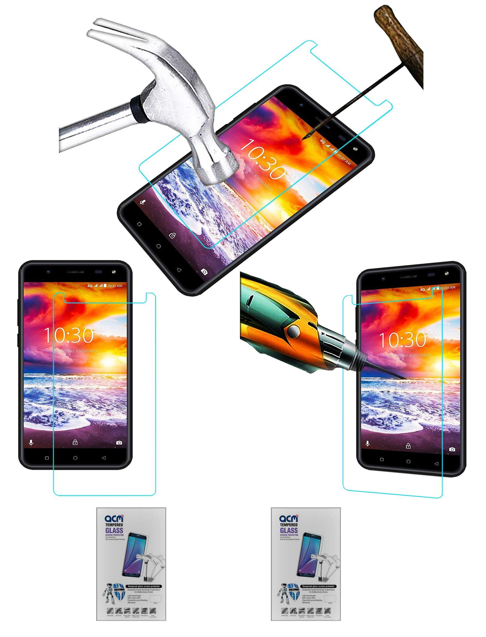 karbonn titanium jumbo 2 tempered glass screen guard by acm mobile