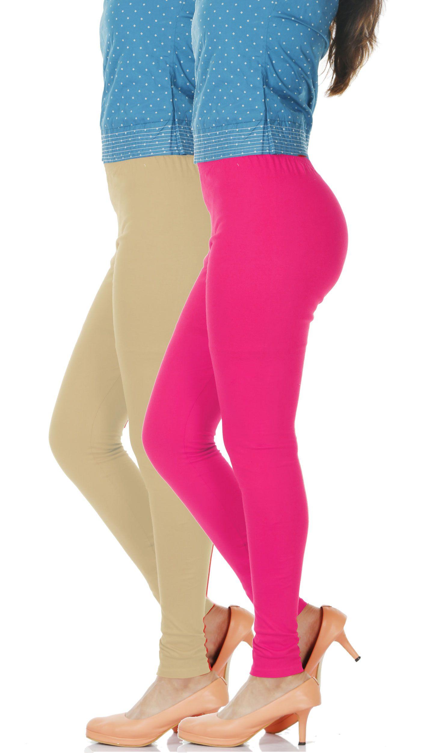 ACTIVE BASIC Cotton Lycra Pack of 2 Leggings