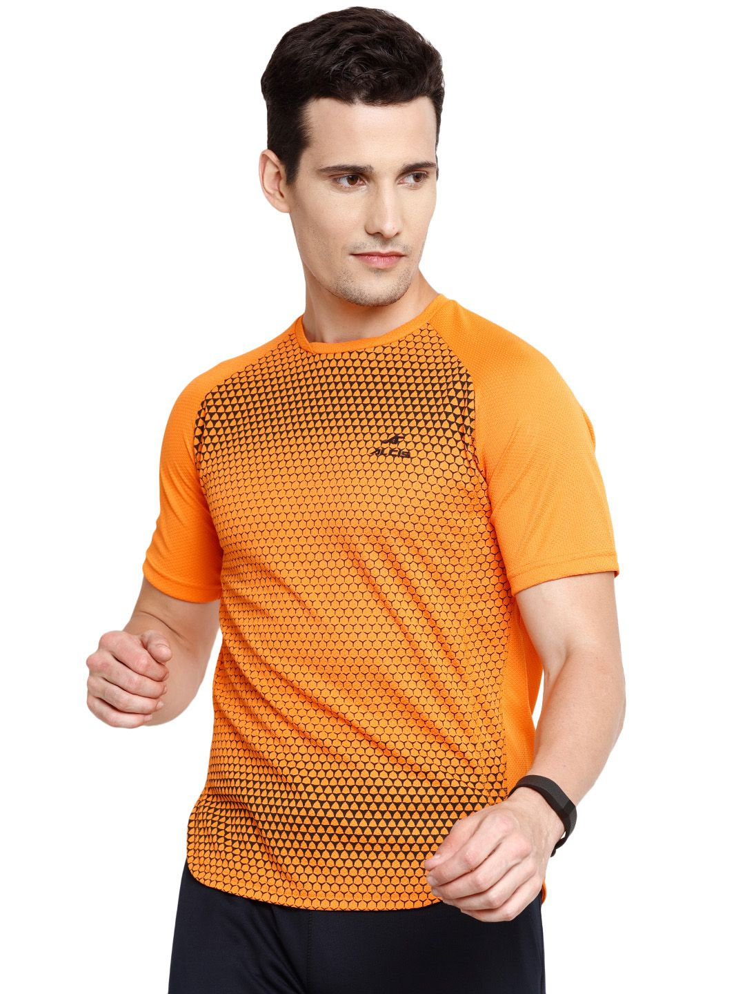 Alcis Mens Orange Printed Tshirt