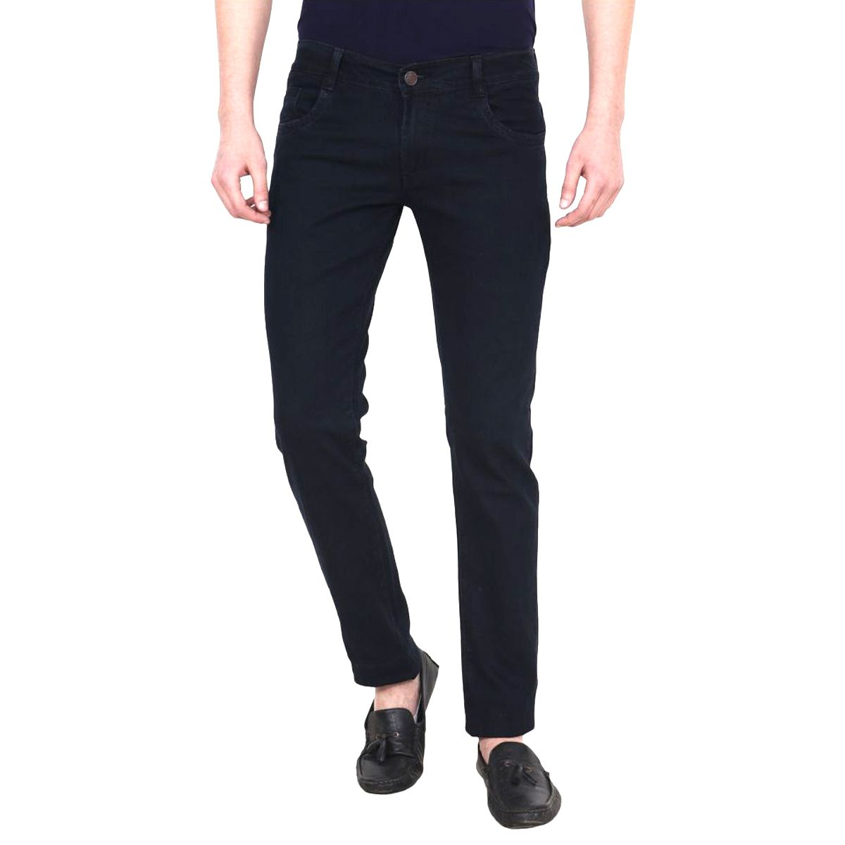 Masterly weft Black Slim Jeans