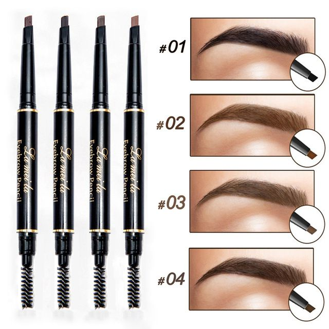 Lameila Colors Automatic Makeup Eyebrow Pencil with Brush Tint Long Lasting Paint Tattoo Set Of 4