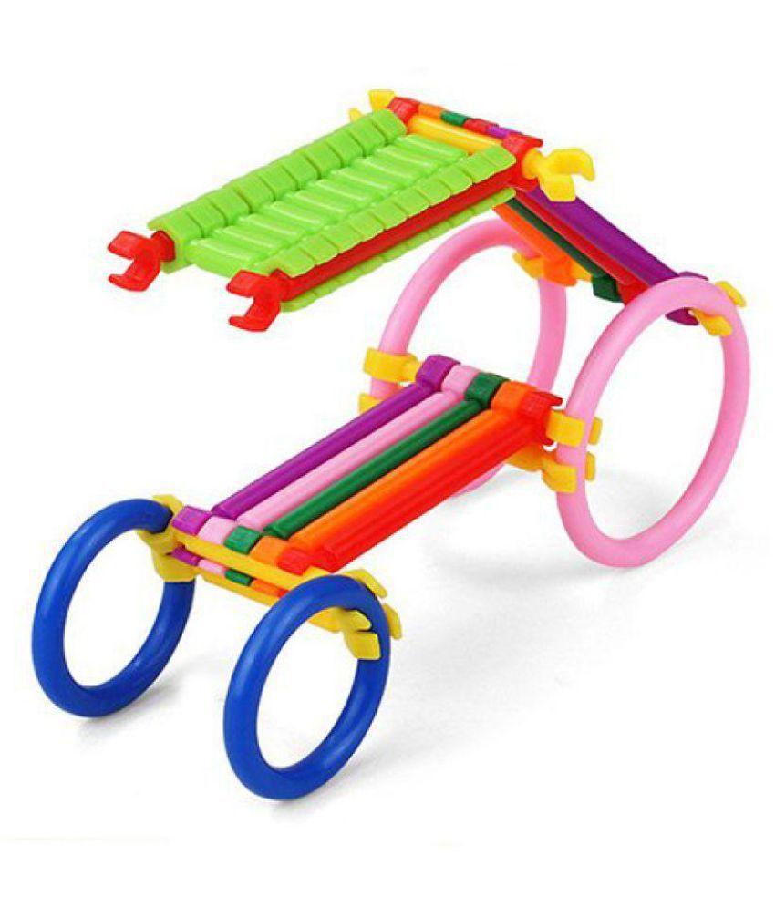 Pepperonz Colourful Plastic Building Stick Educational Building Blocks Toys