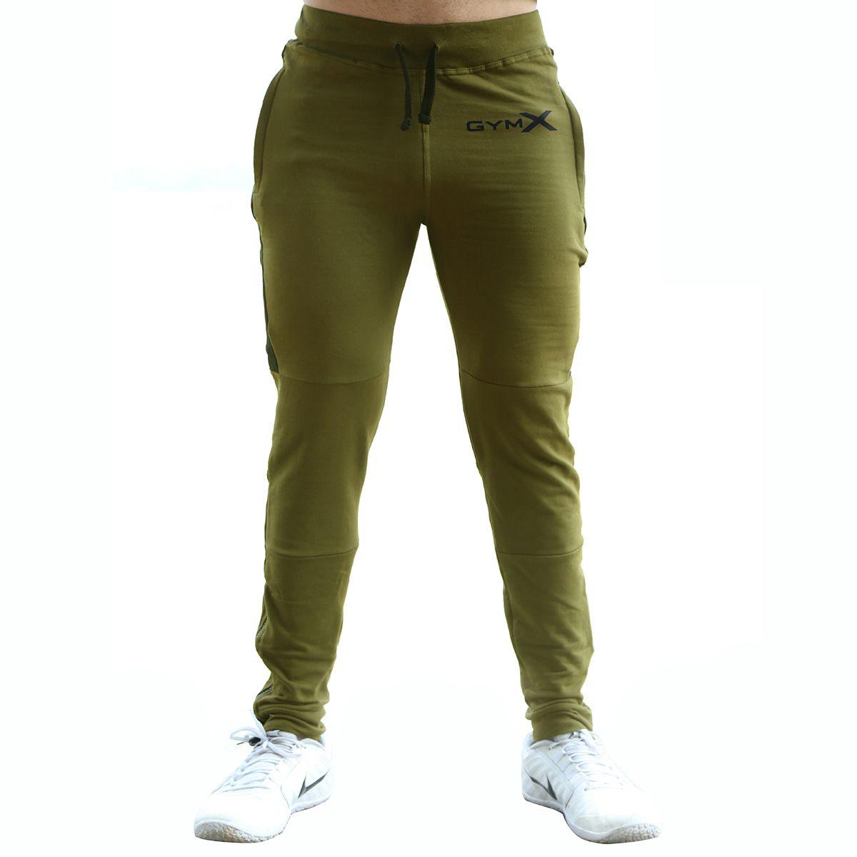 GymX Mens Outperform Military Green Sweatpants (Flex Fit)