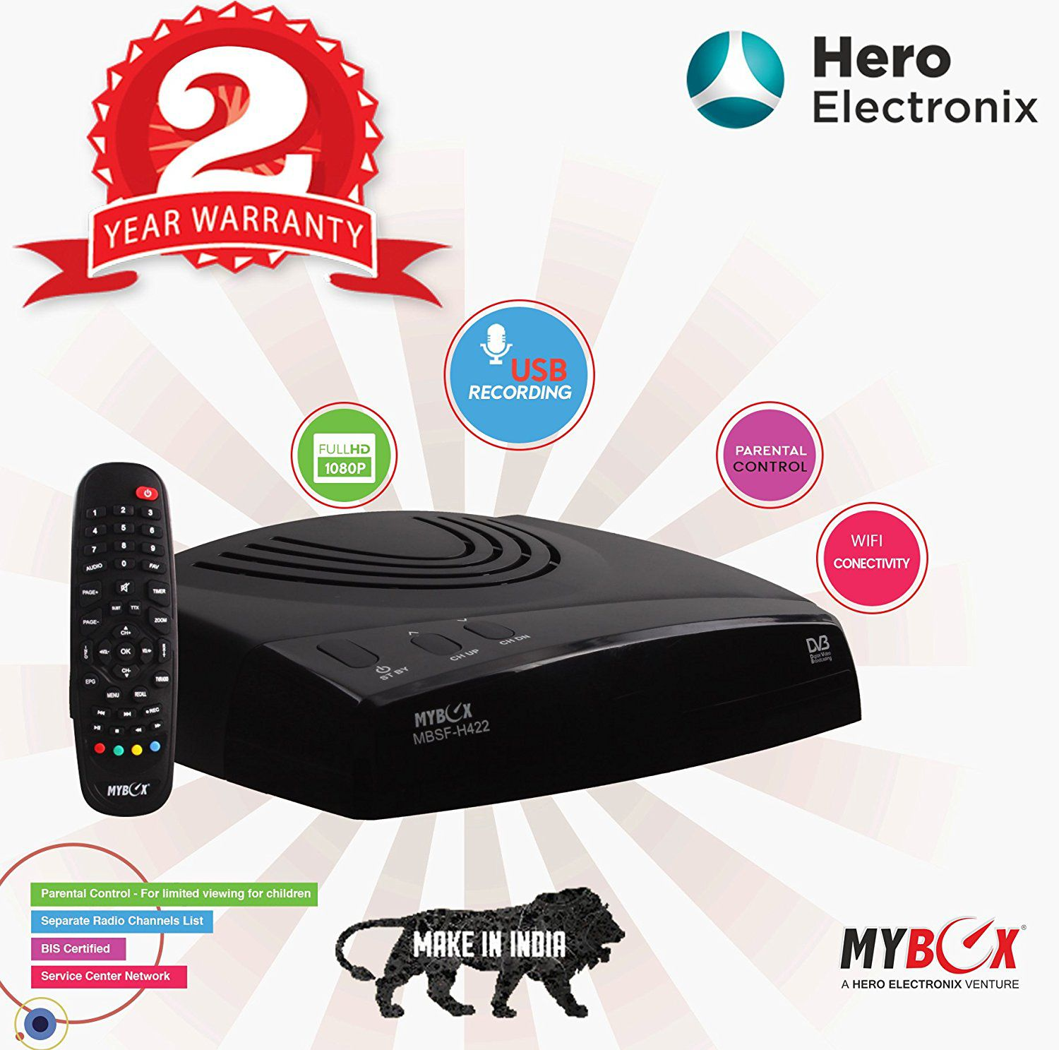 My Box Free To Air Set Top Box Streaming Media Player