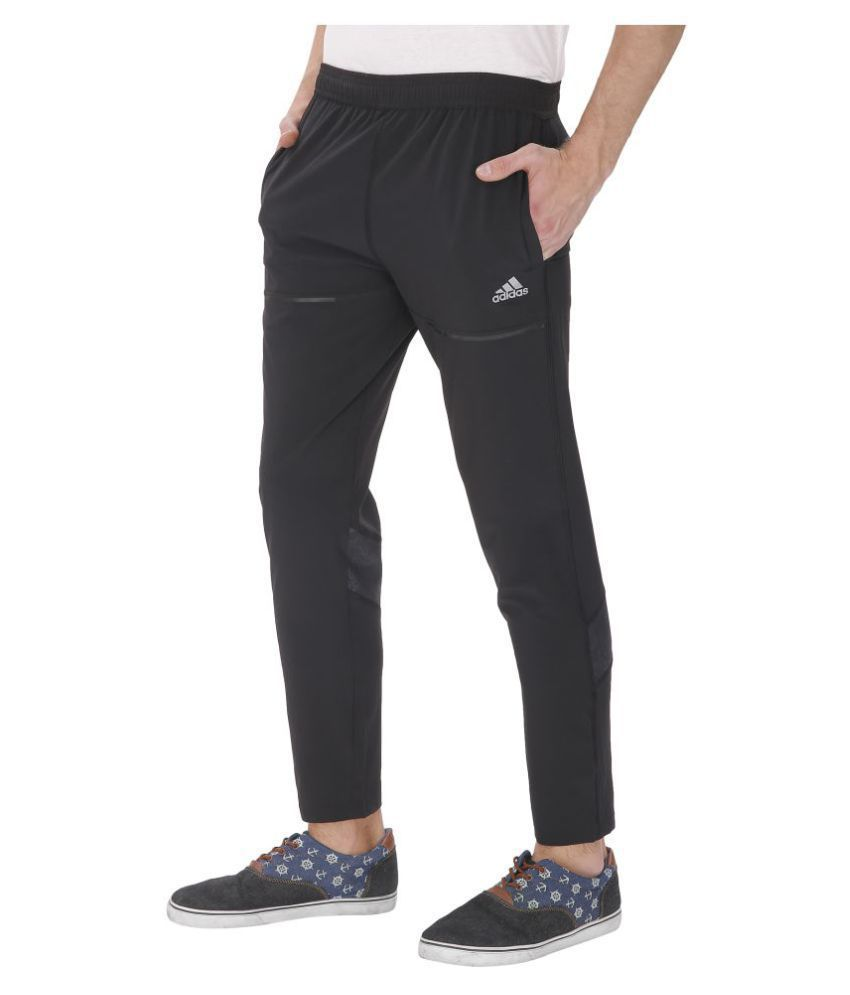 3ecd047ee6f Adidas Black Polyester Sports Gymwear Trackpants For Men  Buy Online at  Best Price on Snapdeal