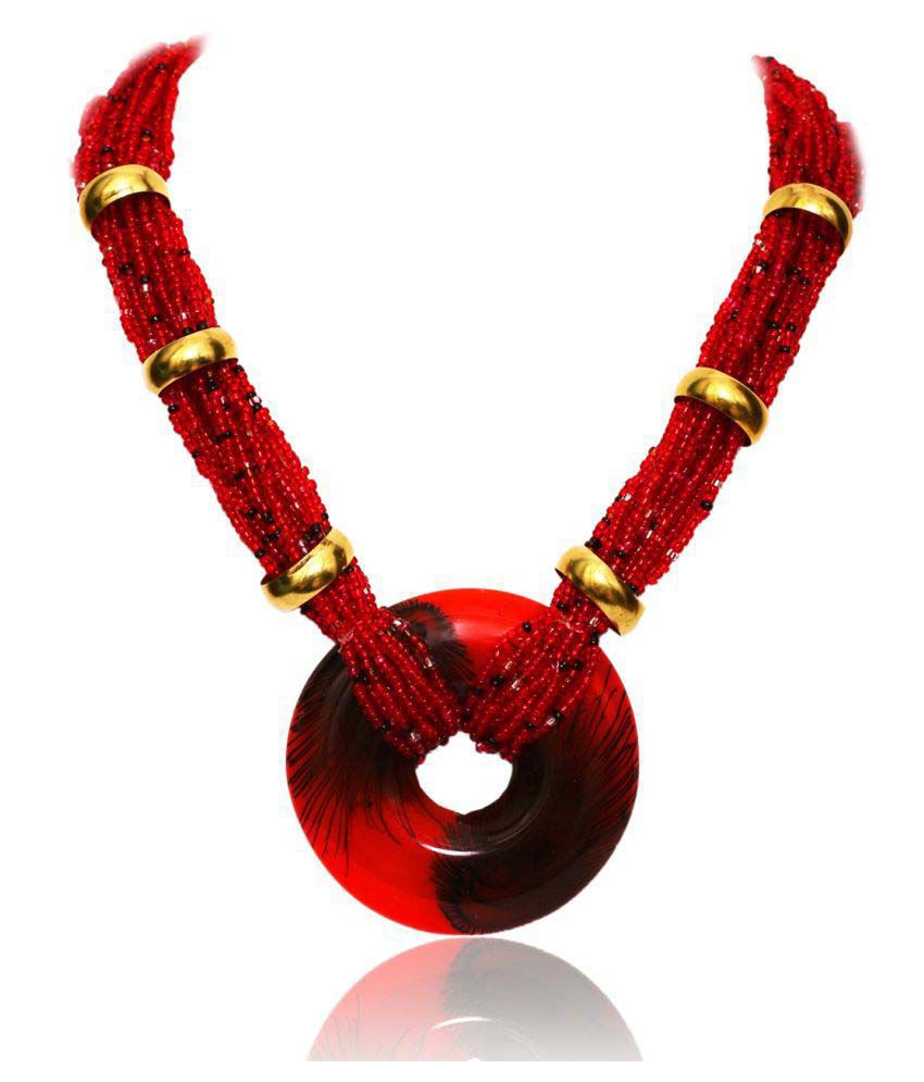 Renaissance Traders Red Fashionable Cool Trendy Outfit Designer Necklace