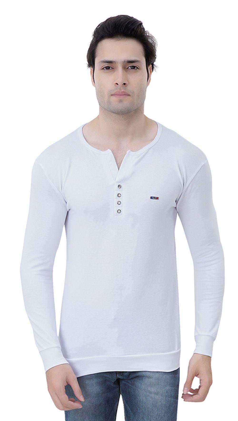RoyalShoppingCart White Henley T-Shirt