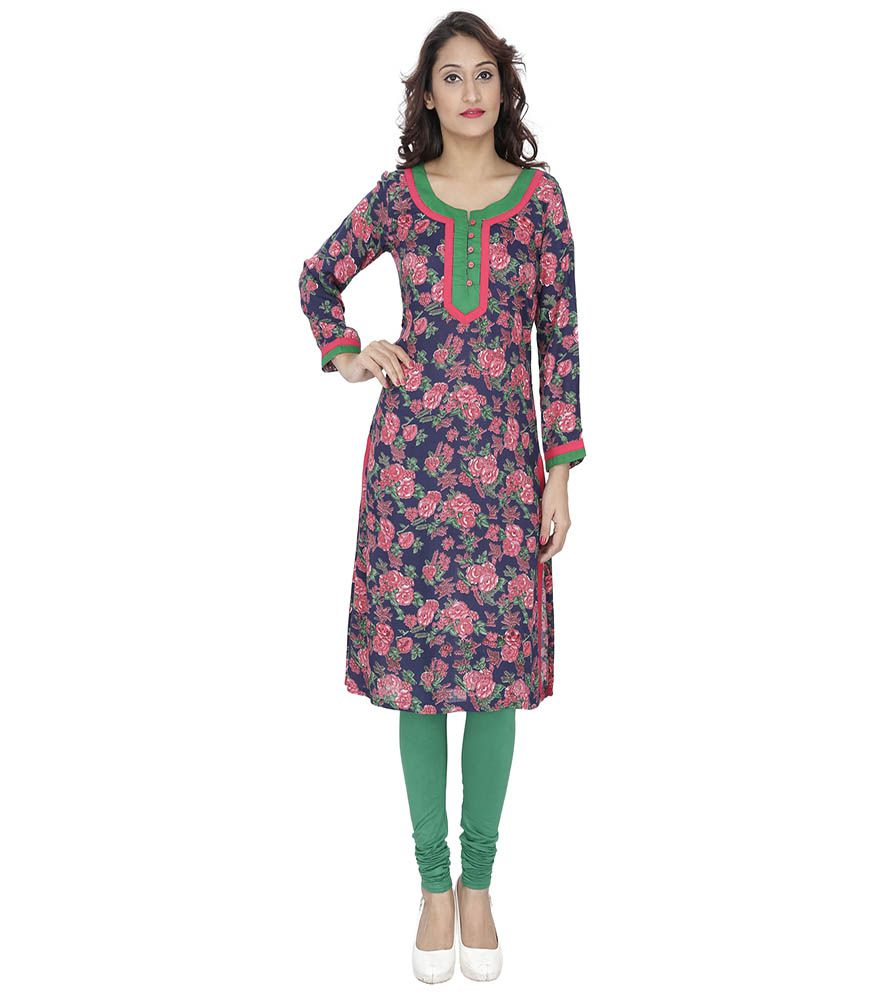 Vaijyanti Multicoloured Cotton A-line Kurti