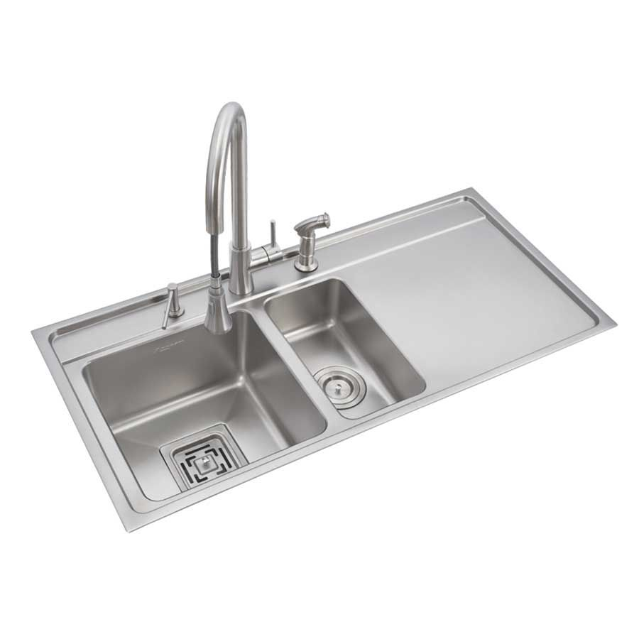 Anupam Stainless Steel Double Bowl Sink With