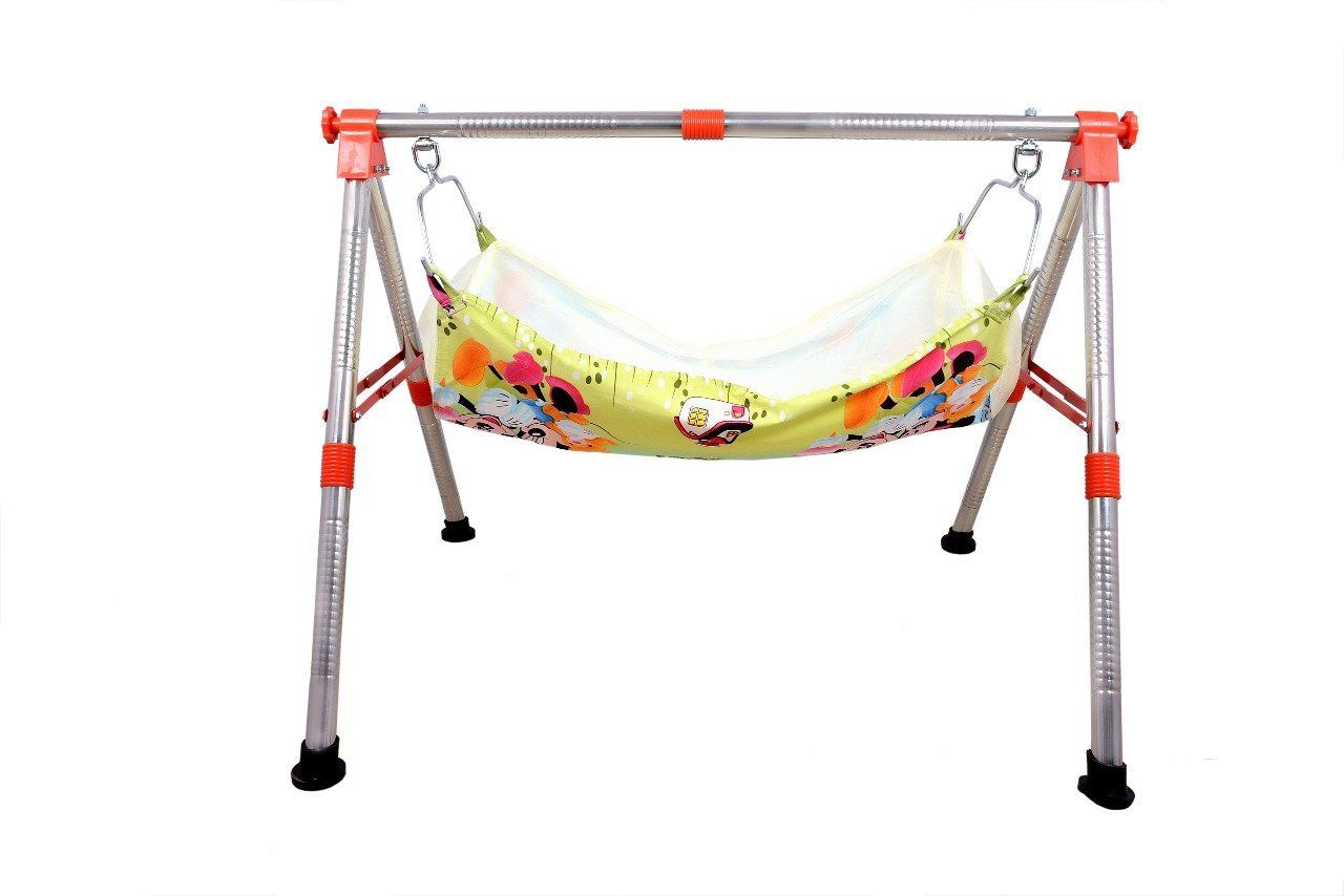 FOLDING STAINLESS STEEL SQURE BABY CRADLE 2FT - Eco Series