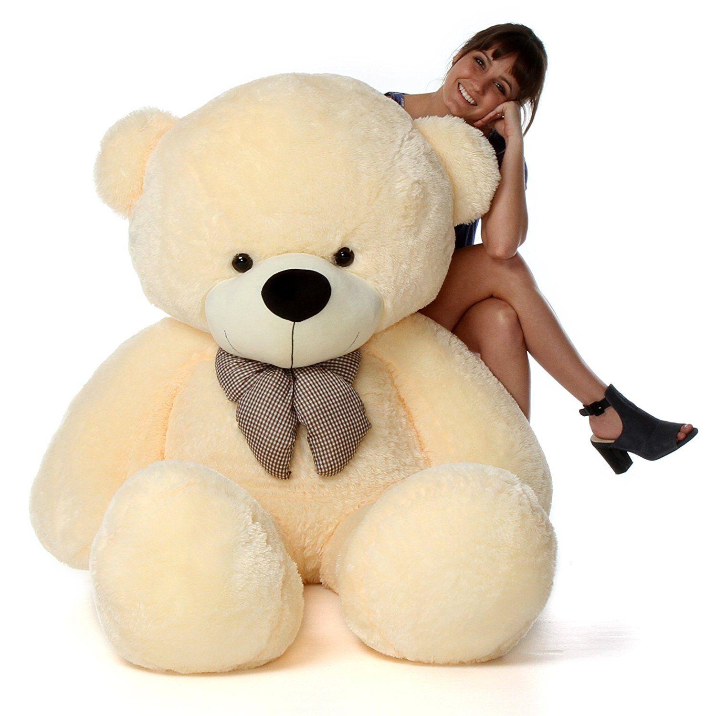 avs 6 feet super soft teddy bear cream 180 cm buy avs 6 feet