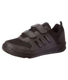 Adidas Boy's Flo K Black Velcro School Shoes