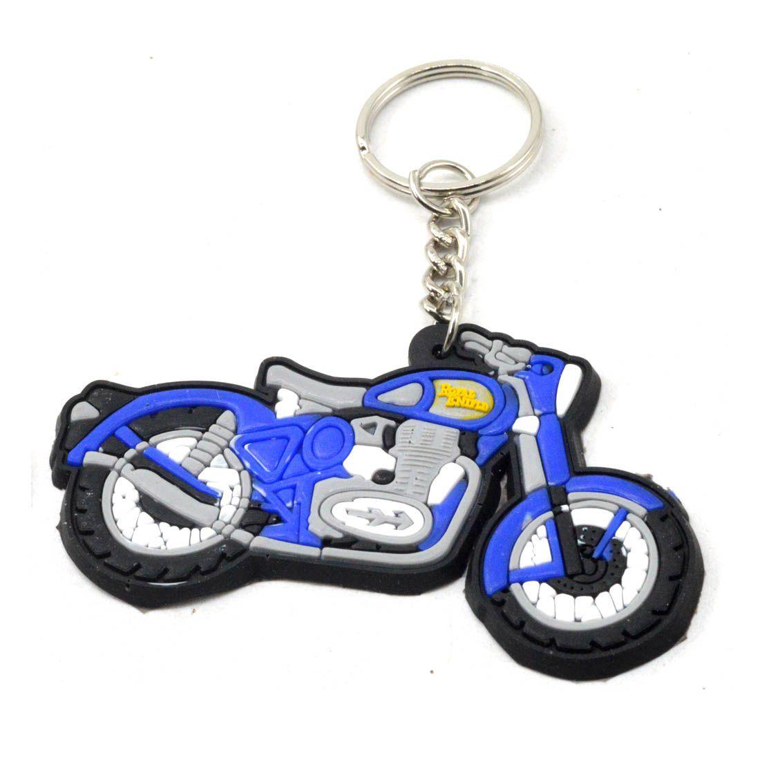 faynci royal enfield bullet bike logo black blue white silicone key