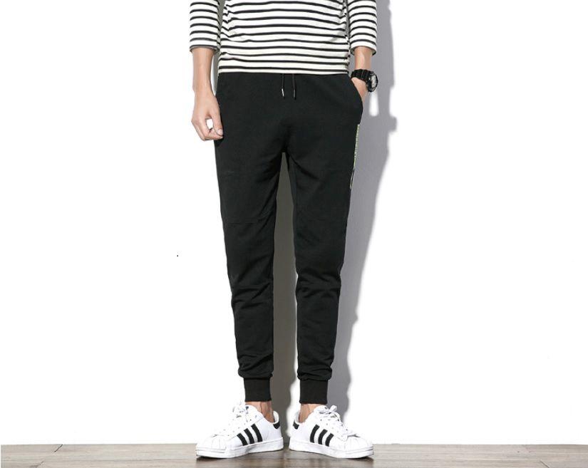 Joggers Park Men's Black Printed Cotton Track Pant