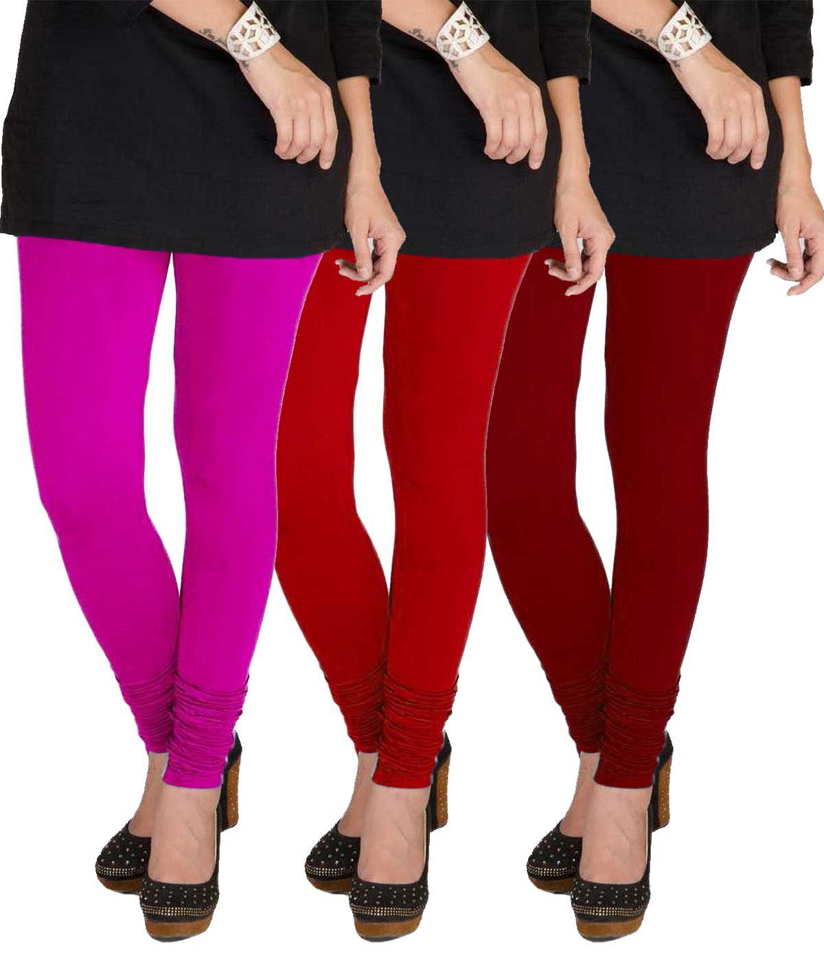 TBZ Cotton Lycra Pack of 3 Leggings