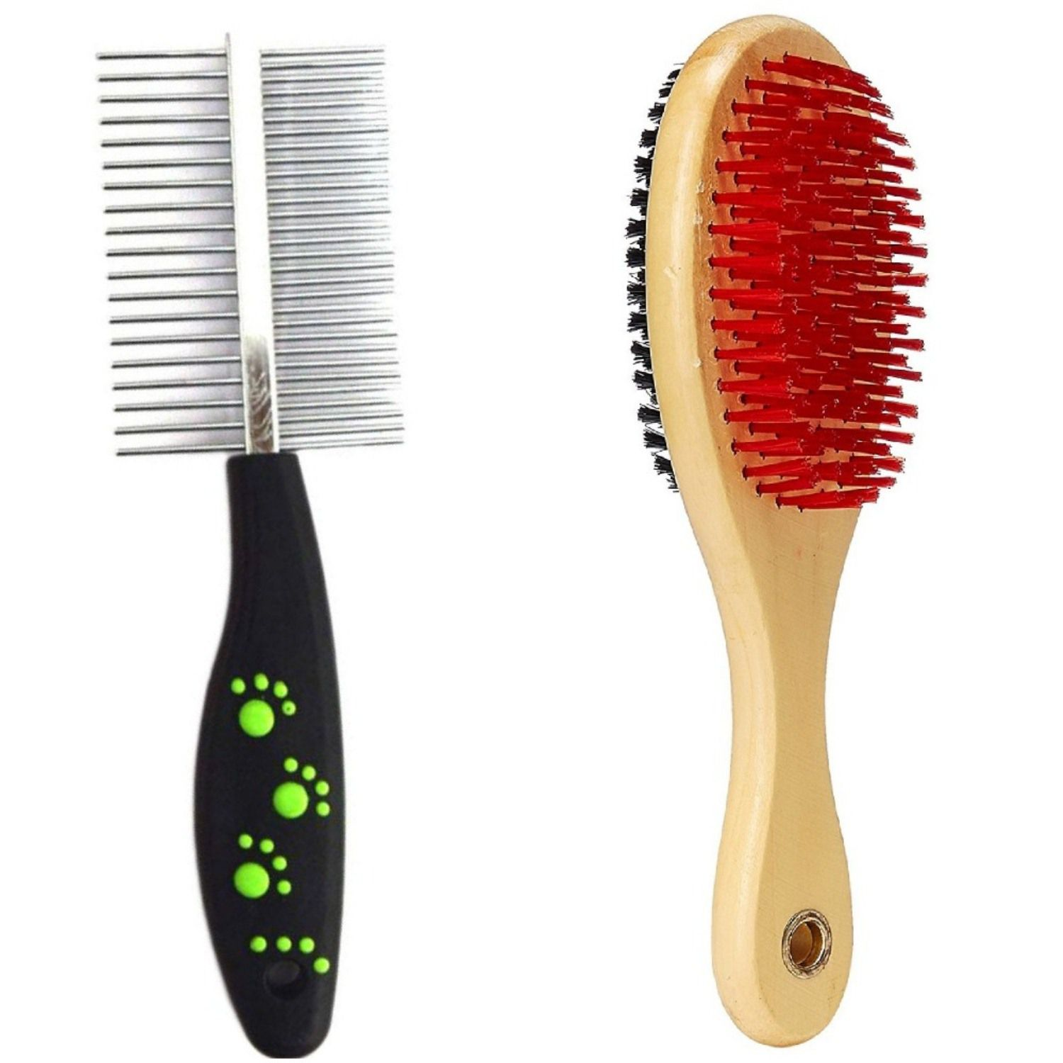 Pet Needs Rake And Double Bristles (Small) Hair-comb/Brush Small
