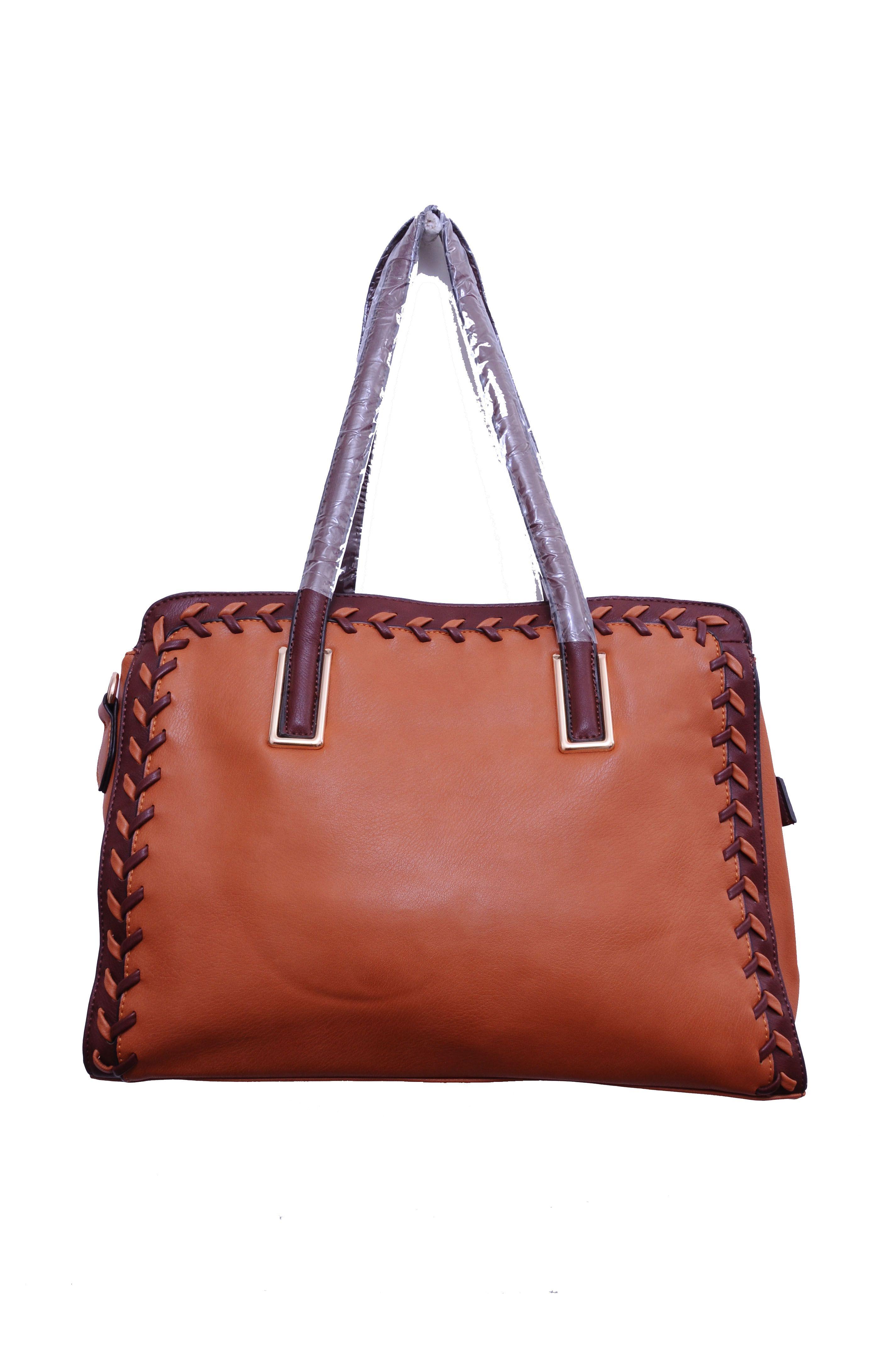 Monett Brown Faux Leather Shoulder Bag