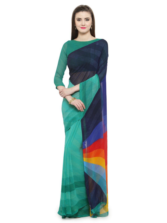 Shaily Multicoloured Georgette Saree