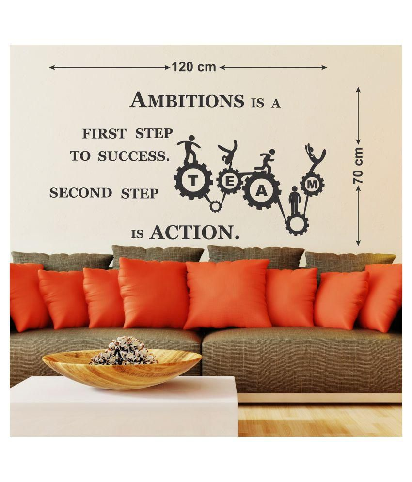 WallStick team work quotes Motivational Quotes Motivational Quotes PVC Sticker