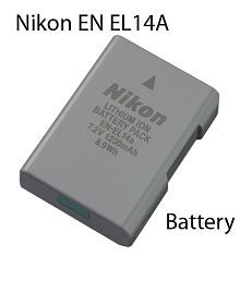 Nikon EN-EL 14 A Rechargeable Li-ion battery for Nikon Digital Cameras