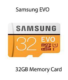 Samsung EVO 32GB MicroSDHC Class 10 95 MB/s with SD adapter