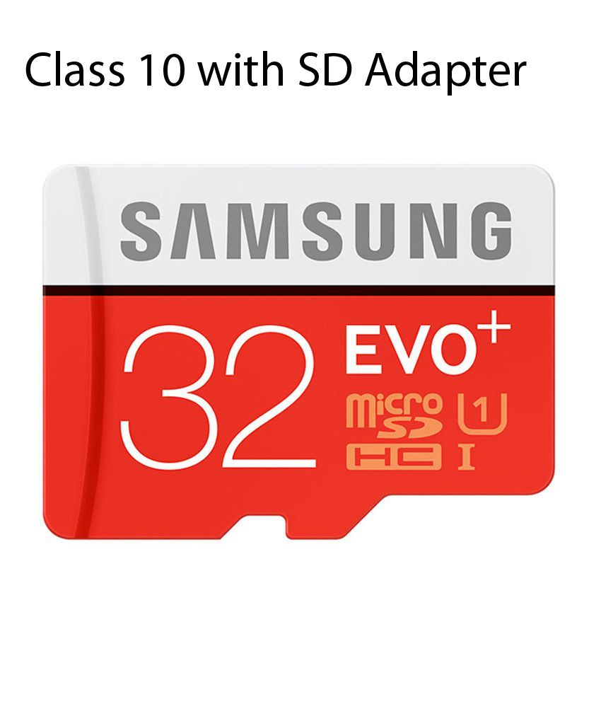 Samsung EVO Plus Class 10 UHS-1 32GB MicroSDHC 95MB/S Memory Card with SD Adapter