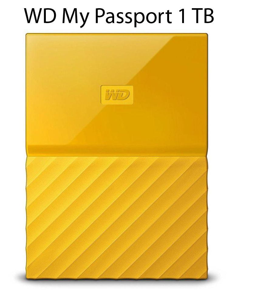 WD My Passport 1 TB External Hard Drive (Yellow)