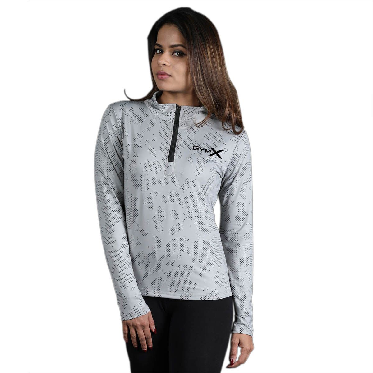 GymX Womens 1/4th Zip Pullover- Athena Series T shirt