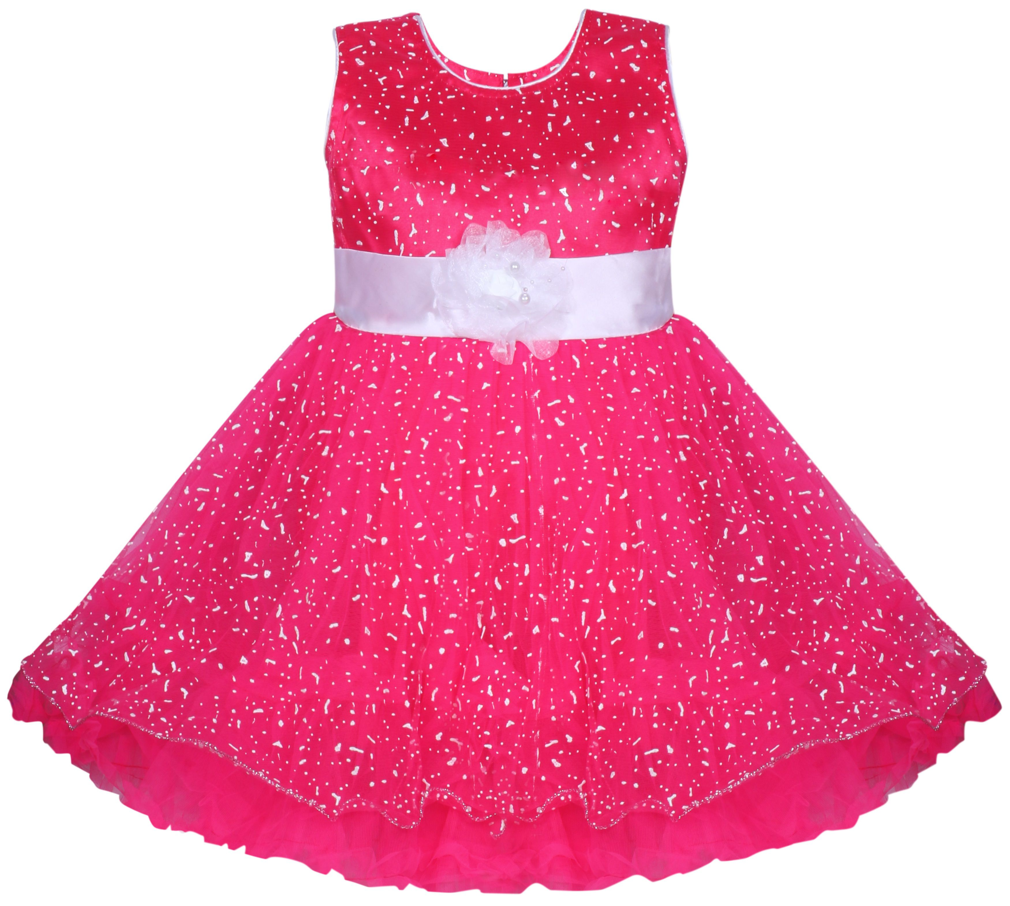 Mpc Cute Fashion Baby Girl s Dew Drop Party Wear Frock Dress For