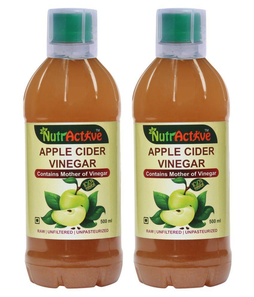 NutrActive Green Apple Cider Vinegar With Mother of Vinegar 1000 ml Unflavoured