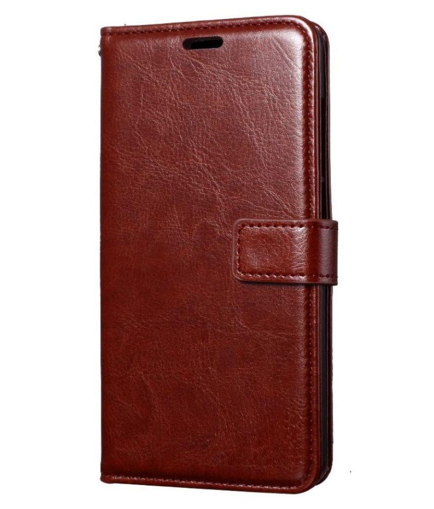 Xiaomi Mi Note 3 Flip Cover by ClickAway - Brown Original Vintage Look Leather Wallet Case