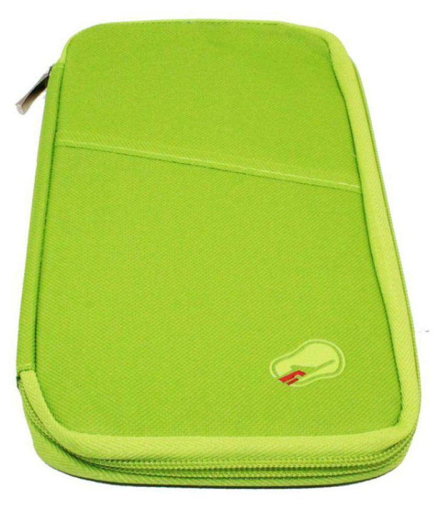 Everbuy Long Travel Organizer Nylon Green Passport Holder