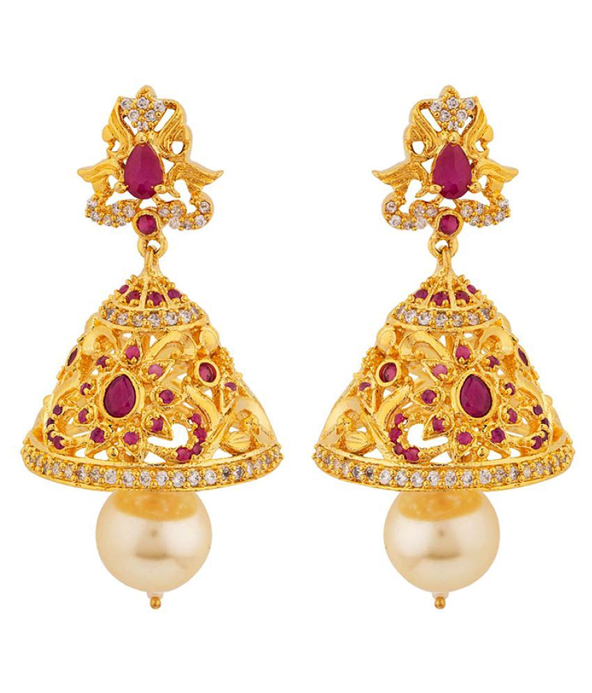 Voylla Filigree Jhumka Drop Earrings